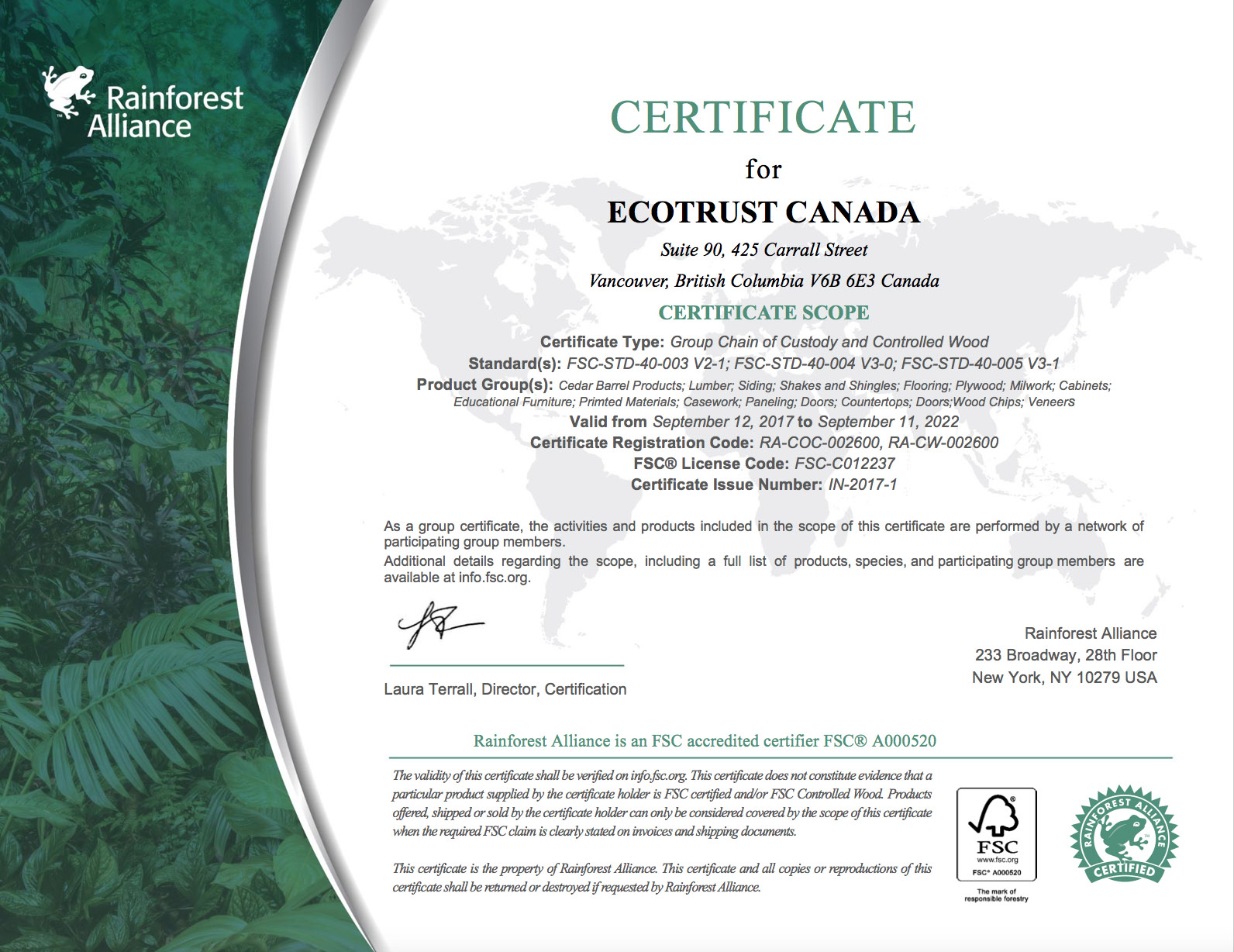 Were certified triad forest products pefc 2017 rainforest alliance 2017 xflitez Image collections